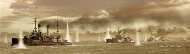 Русская эскадра ведёт бой
